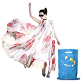 Zicac(tm) Summer Elegant Chiffon Long Dress with Zicac Brand Bag