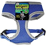 Four paws Nite Brite Medium Blue Safety Comfort Dog Harness