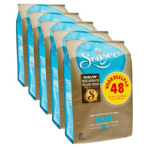 Purchase Senseo Décafé / Decaffeinated, Design, Pack of 5, 5 x 48 Coffee Pods - Douwe Egberts