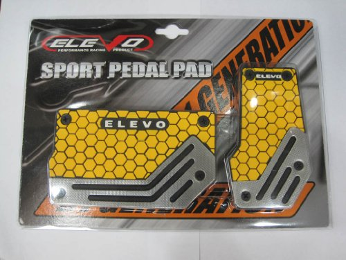 Elevo - Jet Yellow Racing Pedal Covers Automatic , Car Pedal Set in Automotive