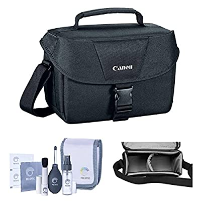 Camera Accessory Bundle Kit of Canon 100ES Top Quality Water-repellent Black Shoulder Bag Case, Combo with Pro Optic Complete 14-piece Accessory Cleaning Kit for Photography Lens, LCD, Sensor, Glasses