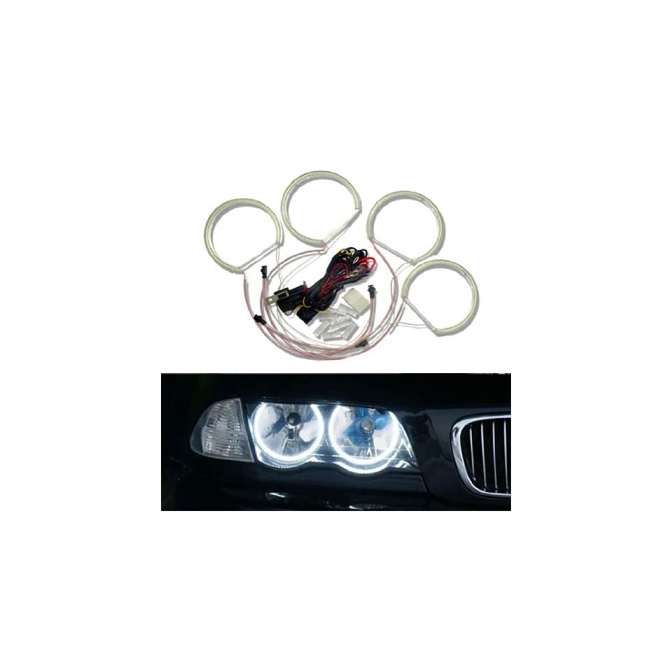 iJDMTOY 7000K Xenon White 284 SMD LED Angel Eyes Halo Ring Lighting Kit for BMW E46 3 Series Non HID Headlights version