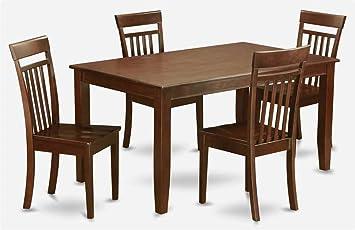 5-Pc Rectangular Dining Set in Mahogany finish