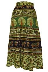 Cotton Multi Color Wrap Around Skirts