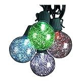 Kurt Adler UL 10-Light G40 Tinsel Balls LED Light Set, Silver