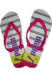 Puma Women's Flip Flops Pink/White/Grey