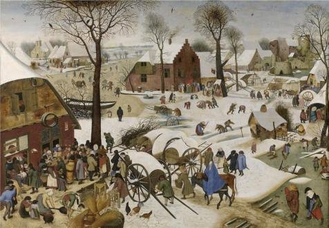 High Quality Polyster Canvas ,the Reproductions Art Decorative Canvas Prints Of Oil Painting 'Pieter Brueghel II,The People's Census At Bethlehem,1564-1636', 12x17 Inch / 30x44 Cm Is Best For Kitchen Gallery Art And Home Decor And Gifts