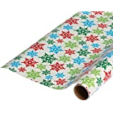 American Greetings Christmas Wrapping Paper, Colorful Snowflakes, 30' (068981161615)