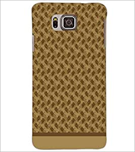 PrintDhaba Pattern D-1585 Back Case Cover for SAMSUNG GALAXY ALPHA (Multi-Coloured)