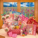 Little Cottontails Easter Activity Easter Basket - Pink