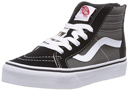 Vans SK8-HI ZIP Sneaker alta, unisex bambino, Multicolore (Black/Charcoal BA5), 34.5