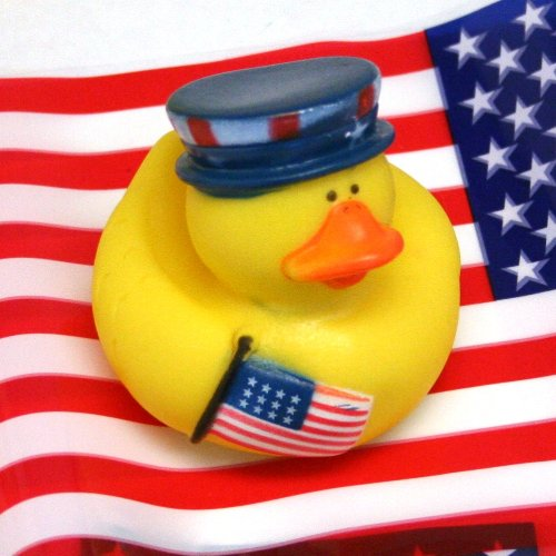 One Dozen (12) Patriotic 4th of July Rubber Duckys - 1