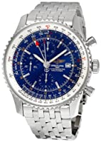 Breitling Men's A2432212-C651 Analog Display Swiss Automatic Silver-Tone Watch by Breitling