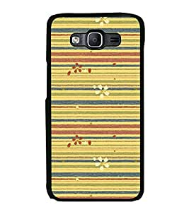 Lines Pattern with Flowers 2D Hard Polycarbonate Designer Back Case Cover for Samsung Galaxy On7 G600FY :: Samsung Galaxy On 7 (2015)