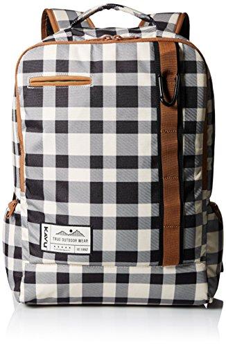 KAVU Highland Backpack, BW Plaid, One Size