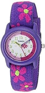 "Timex Kids' T89022 ""Time Teacher"" Floral Elastic Strap Watch"