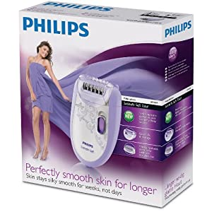 Philips HP6509 Satinelle Soft Sensitive Total Body Epilator With Shaving Attachment