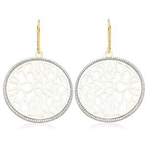 10K Yellow Gold Diamond Circle Earrings (1/2 Cttw, I-J Color, I2-I3 Clarity)