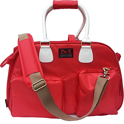 Sanzang Comfort Pet Carrier Small Dog Tote Bag Soft Sided Travel Carriers for Cats(Bright Red)