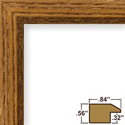Craig Frames 8261610 Real Wood Grain Finish 13 by 16-Inch Picture/Poster Frame, 0.84-Inch Wide, Rich Brown