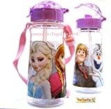 Twinkle Disney Frozen Princess Kids 16-oz BPA Free 2 STRAW Water Bottle w/Strap-removed Made in Korea (TopTopForU)