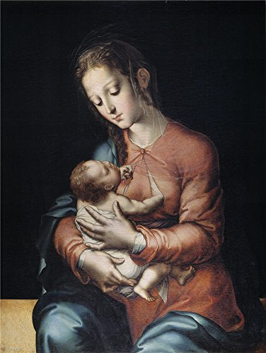 Oil Painting 'Morales Luis De La Virgen Y El Nino Ca. 1565 ' Printing On High Quality Polyster Canvas , 12 X 16 Inch / 30 X 41 Cm ,the Best Nursery Gallery Art And Home Decoration And Gifts Is This Replica Art DecorativePrints On Canvas (Sewing Machine Accesory Bible compare prices)