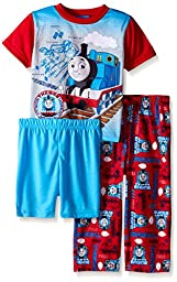 Thomas the Train Little Boys Blue Prints and Engines 3-Piece Pajama Set 4T