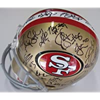 2012 San Francisco 49ers Team Signed Helmet Vernon David , Frank Gore , Smith and More with Certificate of Authenticity