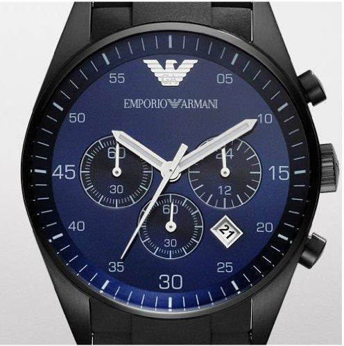 Emporio Armani Blue Dial Chronograph Mens Watch AR5921