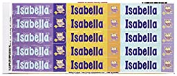 Mabel\'s Labels 40845152 Peel and Stick Personalized Labels with the Name Isabella and Owl Icon, 45-Count