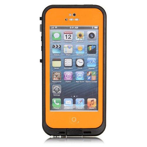 iPhone5 5s 防水・防塵・防雪・耐衝撃のスーパーケース スーパースリム耐衝撃保護ケース アイフォン5 5s用 オレンジ