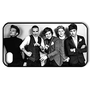 niceEshop(TM) Black/White One Direction Members Photo Snap On Hard Case Cover for iPhone4 4G 4S +Screen Protector from niceEshop