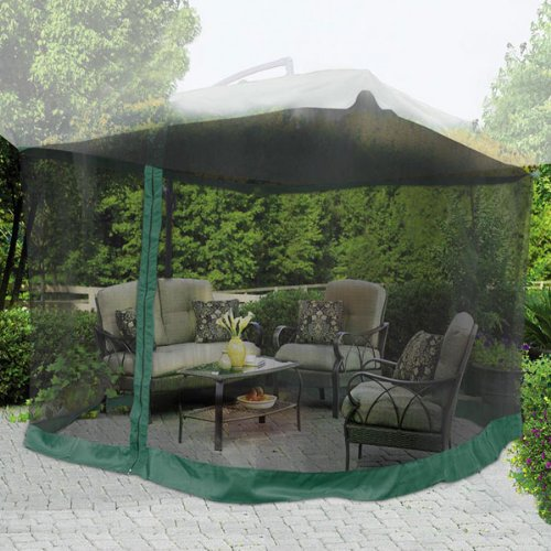 Best  Detail shop ux u Square Ft Height Patio Umbrella Mosquito Net Gazebo Top Replacement Mesh Netting Green Edge w Zip Entry Lightweight for Outdoor