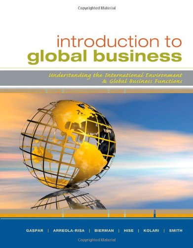 Introduction To Global Business: Understanding The International Environment & Global Business Functions front-1036071