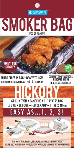 Hickory Smoker Bag- Smoking Bag for Indoor or Outdoor Use- Easily Infuse Natural Wood Flavor (Smoker Bags compare prices)