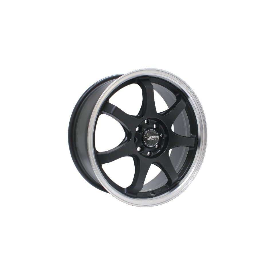 Kyowa Racing Series 627 Matte Black   18 x 7.5 Inch Wheel