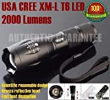 UltraFire E17 Cree XM-L T6 2000 Lumen Zoomable and Waterproof LED Flashlight