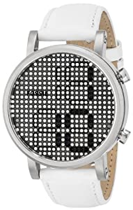 Fossil Women's ES3483 Electro Tick Digital Display Quartz Beige Watch