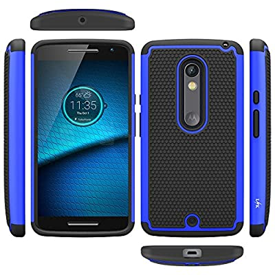 Droid Maxx 2 Case, LK [Shock Absorption] Drop Protection Hybrid Dual Layer Armor Defender Protective Case Cover for Motorola Droid Maxx 2 by LK