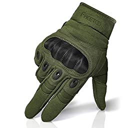 Freetoo Men\'s Outdoor Gloves Full Finger Cycling Motorcycle Gloves