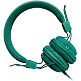 Sound Intone HD850 On-Ear Lightweight Stereo Headphone Folding Stretching Adjustable Headband Headset Earphone with Microphone and Remote Control(Sea Green)