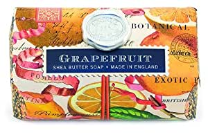 Michel Design Works Over-size Scented Triple-milled Bath Soap Bar, Grapefruit,  9 Ounce (Pack of 3)
