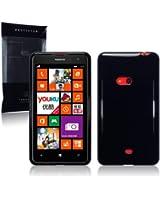 """Étui """"Terrapin"""" en Gel TPU pour Nokia Lumia 625 - Solide Noir"""