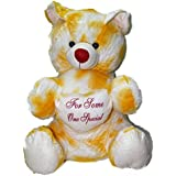 Teddy Bear With Heart White And Yellow 90cm Tall