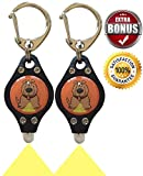 Bubbas Mini Dog Light - Best Dog Walking Light & Backyard Dog Monitor Light | Great Dog Gifts | FREE BONUS | Tiny Safety Dog Collar Light | FUN Dogs Toys | Attach to- | Dog Collar | Dog Leash | Pet ID Tags | Dog Harness | Fits Small to Large Dogs | *2 Lightweight Lights Included*