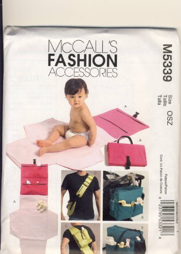 Mccall Fashion Accessories Sewing Pattern 5339 - Use To Make - Diaper Bags And Changing Kit front-191713