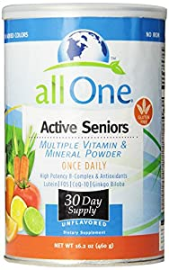 All One Active Seniors Multiple Vitamin & Mineral Powder, 16.2 Ounce