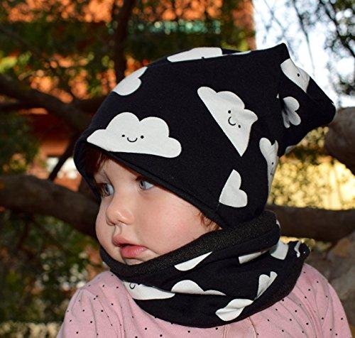set-di-cappello-hipster-unisex-reversibile-e-sciarpa-per-neonato-e-bambino-slouchy-beanie-di-nuvole-