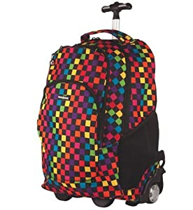 Yak Pak Y14881 Wheeled Backpack with Multi-Coloured Chequered Design 23 x 39 x 55 cm by Yak Pak