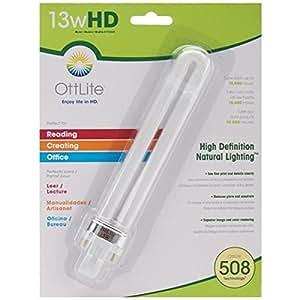 OttLIte T13330 13-Watt HD OttLite Replacement Bulb, Type A
